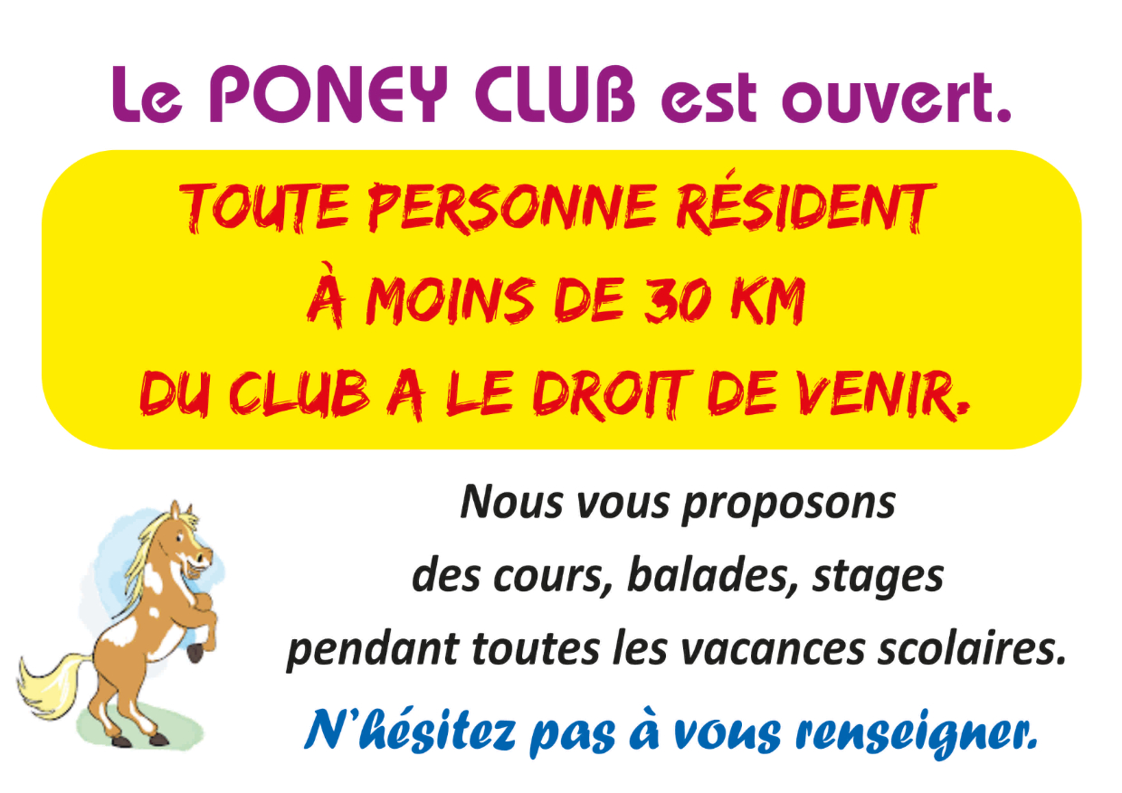 poney club ouvert